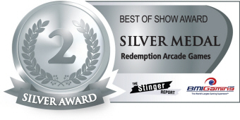 Silver Medal Award - Redemption Arcade Games  :  Best Of Show Arcade Machine Awards / BOSA 2014