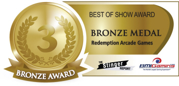 Bronze Medal Award - Redemption Arcade Games  :  Best Of Show Arcade Machine Awards / BOSA 2014
