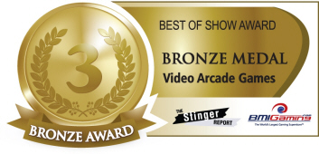 Bronze Medal Award  - Video Arcade Games  :  Best Of Show Arcade Machine Awards / BOSA 2014