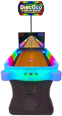 DiscGlo Shuffle Virtual Shuffleboard / Bowling Game From Arachnid