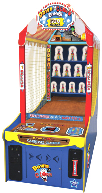 Down The Clown Redemption Arcade Game From ICE / Innovation Concepts In Entertainment