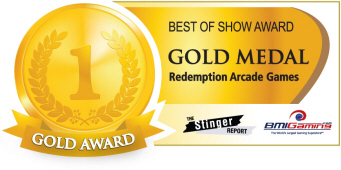 Gold Medal Award - Redemption Arcade Games  :  Best Of Show Arcade Machine Awards / BOSA 2014