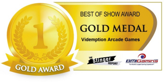 Gold Medal Award - Videmption Arcade Games  :  Best Of Show Arcade Machine Awards / BOSA 2014
