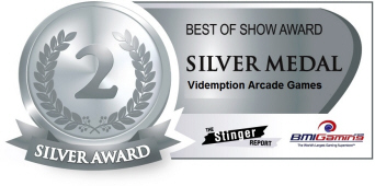 Silver Medal Award - Videmption Arcade Games  :  Best Of Show Arcade Machine Awards / BOSA 2014