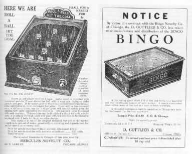 Bagatelle Table / Bingo Pinball Machine Ad