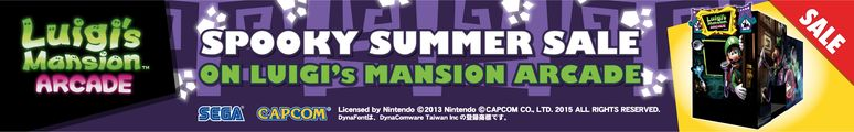 Luigi's Mansion Arcade Video Game - Spooky Summer Sale At BMIGaming.com - Save $1500 !