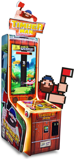 Timberman Arcade Ticket Videmption Game From Magic Play
