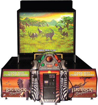 Big Buck Hunter Safari Suoer Deluxe Video Arcade Game From Raw Thrills / Betson / Play Mechanix