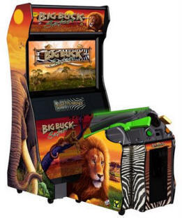 Big Buck Hunter Safari Video Game Deluxe Model | Video Arcade Game From Raw Thrills / Betson / Play Mechanix