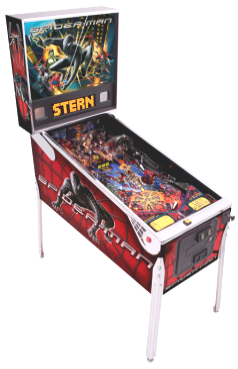 Black Suited Spiderman Pinball Machine