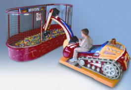 Hydraulic Bulldozer 2 Kiddie Ride - 29032  |  From Falgas Amusement Rides