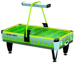 Green Football Frenzy Air Hockey Table -  Coin Operated