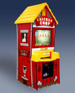 Chicken Coop Video Arcade Ticket Redemption Game From ICE / Innovative Concepts In Entertainment