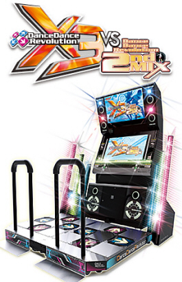 Dance Dance Revolution X3 vs DDR 2nd Mix / DDR X3 Video Arcade Dancing Machine Game From Konami