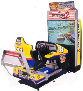 Daytona USA 2 Deluxe Mode Video Arcade Racing Game From SEGA