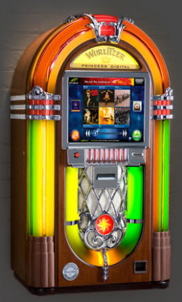Wurlitzer Digital Princess Internet Jukebox | Streaming Downloading Ecast Jukebox Machine By Wurlitzer Jukebox