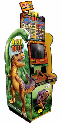 Dino Dual Video Arcade Game Ticket Redemption Game From LAI Games