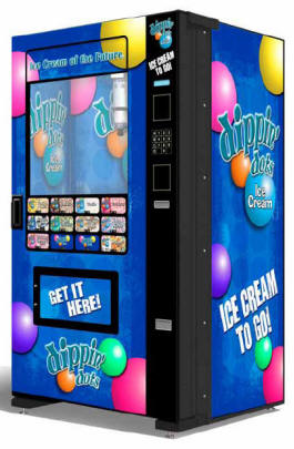 Dippin' Dots Branded Ice Cream Vending Machine | Evolution EVO FS01 Infevo Model From Fastcorp LLC