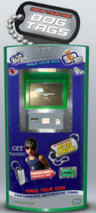 Dog Tag Permanent Automatic ID Tag Vending Machine From Dedem / ICE Games