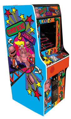 "Donkey Kong / Donkey Kong Jr Junior 25"" Upright Video Arcade Game By Namco - Coin Operated"