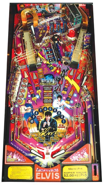 Elvis Pinball Machine - Playfield View 2