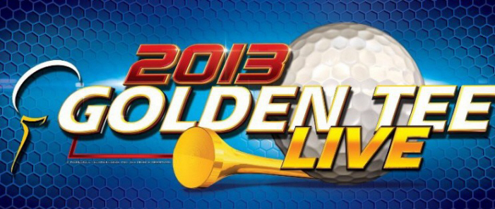 Golden Tee Golf LIVE 2013 Game Marquee / Logo