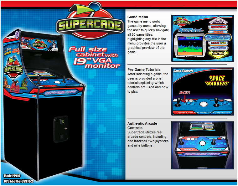 Chicago Gaming Supercade Video Arcade Machine Brochure