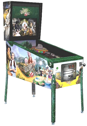 Wizard Of Oz Emerald City Edition Pinball Machine From Jersey Jack Pinball
