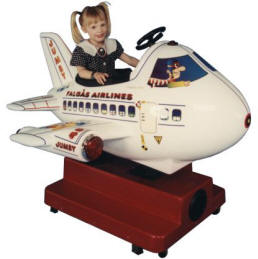 Jumbo Jet Kiddie Ride - 8209  |  From Falgas Amusement Rides