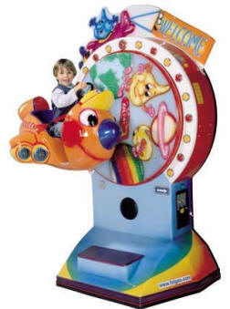 Falgas Airplane Wheel Kiddie Ride - 27120 - From BMI Gaming: 1-800-746-2255