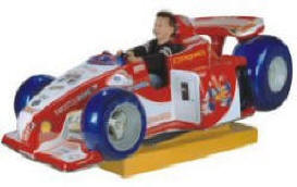 Falgas Formula One Race Car Kiddie Ride - 27307 - From BMI Gaming: 1-800-746-2255