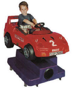 Falgas Porsche F40 Kiddie Ride - 7009  - From BMI Gaming: 1-800-PINBALL
