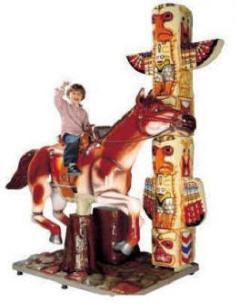 Far West Express Horse Kiddie Ride - 29237  |  From Falgas Amusement Rides