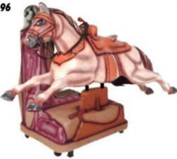 Falgas Powerful Horse Kiddie Ride - 13851 - From BMI Gaming: 1-800-746-2255
