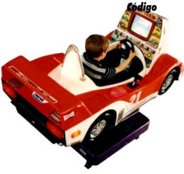 Falgas  Race Car Kiddie Ride -  - From BMI Gaming: 1-800-746-2255