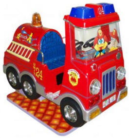Fire Truck Kiddie Ride - 14160  |  From Falgas Amusement Rides