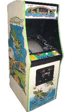 Galaxian Video Arcade Game Cabinet, Namco, circa 1979