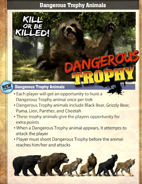 Big Buck HD Dangerous Trophy Animals Banner