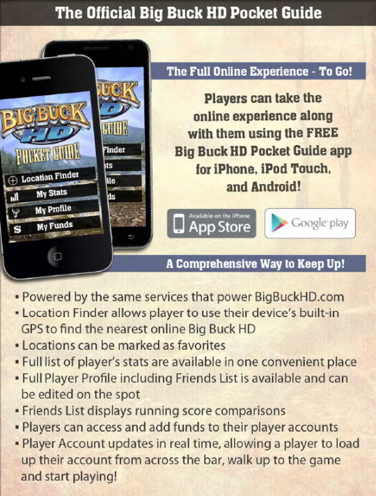 Big Buck HD Online Pocket Guide Banner