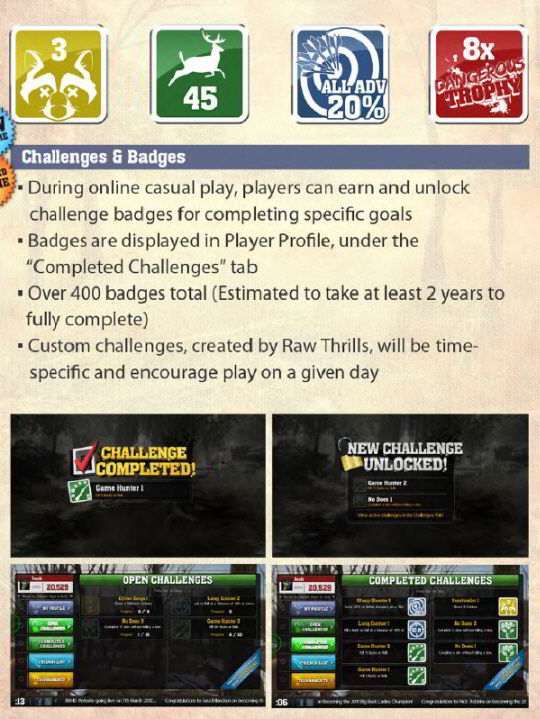 Big Buck HD Online Challenges Achievements Badges Banner