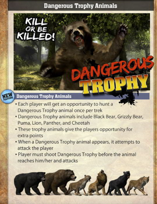 Big Buck HD Online Dangerous Trophy Animals Banner