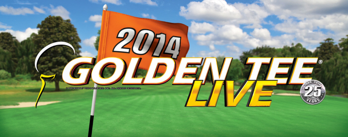 Golden Tee Golf LIVE 2014 Game Marquee / Logo