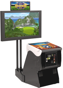 Golden Tee Golf LIVE 2015 Showpiece Cabinet Model