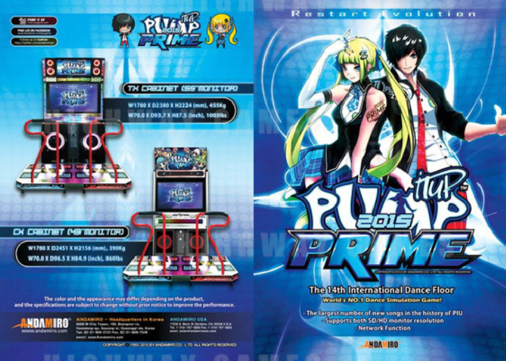 Pump It Up Prime 2015 Arcade Machine Brochure / PIU 2015