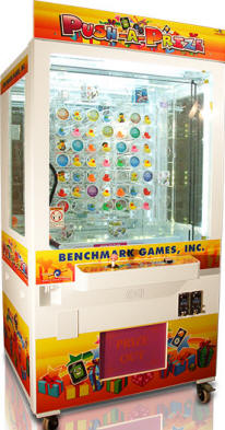 Push A Prize Arcade Skill Prize Redemption Machine From Benchmark Games