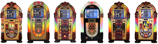 Rock-Ola Nostalgic Music Center Digital Touchscreen Jukeboxes For Sale