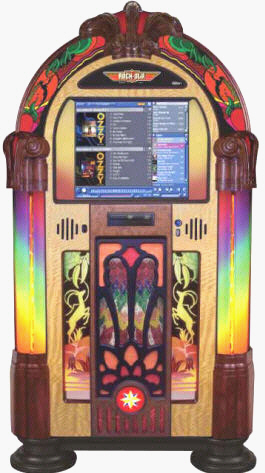 Gazelle Music Center Touchscreen Digital Jukebox Model QB4GZ-PV4 By RockOla Jukebox