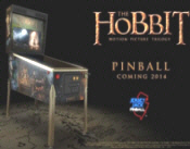 The Hobbit Limited Edition Pinball Machine Poster
