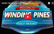 Winding Pines Golf Course Video - Golden Tee Golf 2016