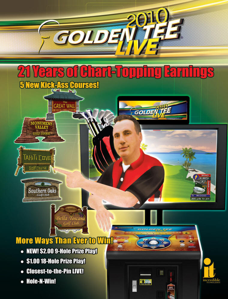 Golden Tee Golf Live 2010 Brochure - Page 1 - From Incredible Technologies